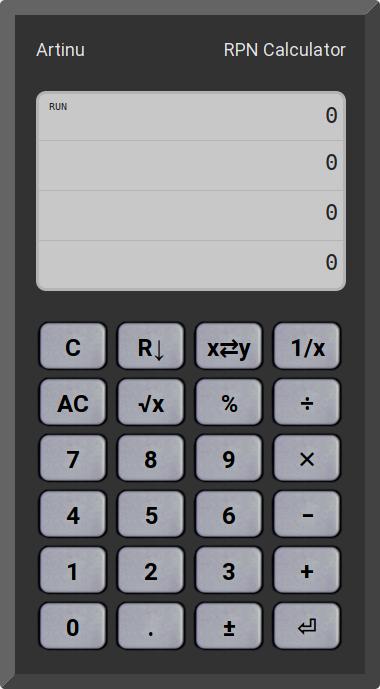 Artinu, RPN Calculator